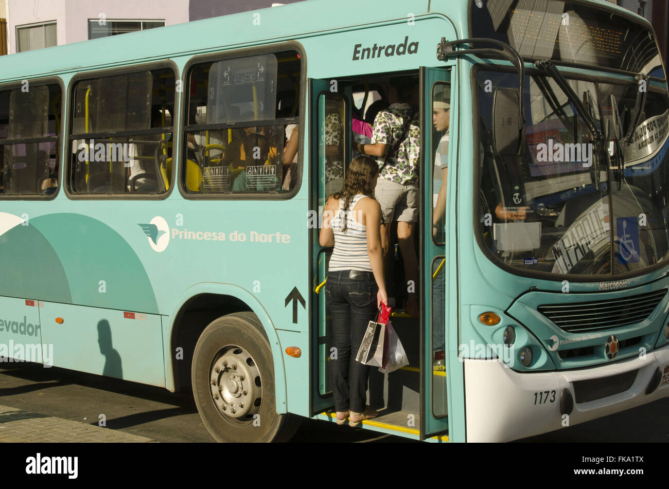 Public transport from the city of Montes Claros - Stock Image