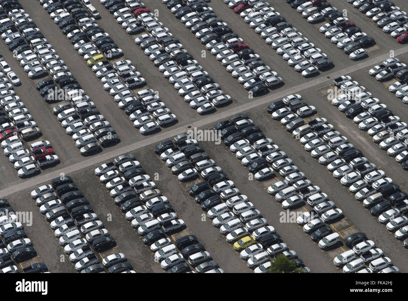 Aerial view of the patio manufactures of General Motors - Stock Image