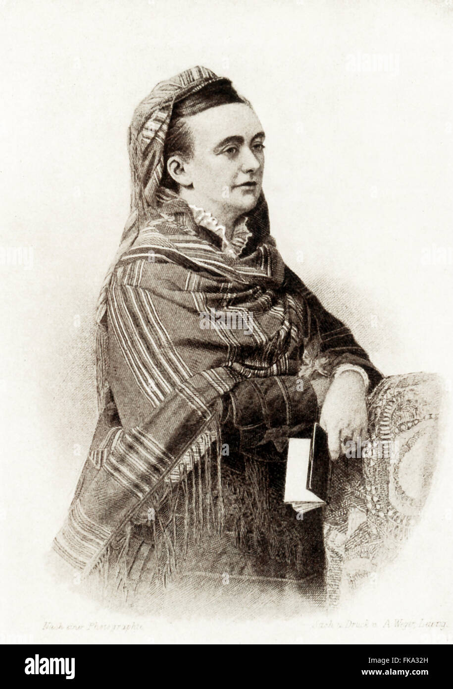 Amelia Blanford Edwards (1831-1892) was an English novelist, journalist, traveler, and Egyptologist. Among her successful - Stock Image