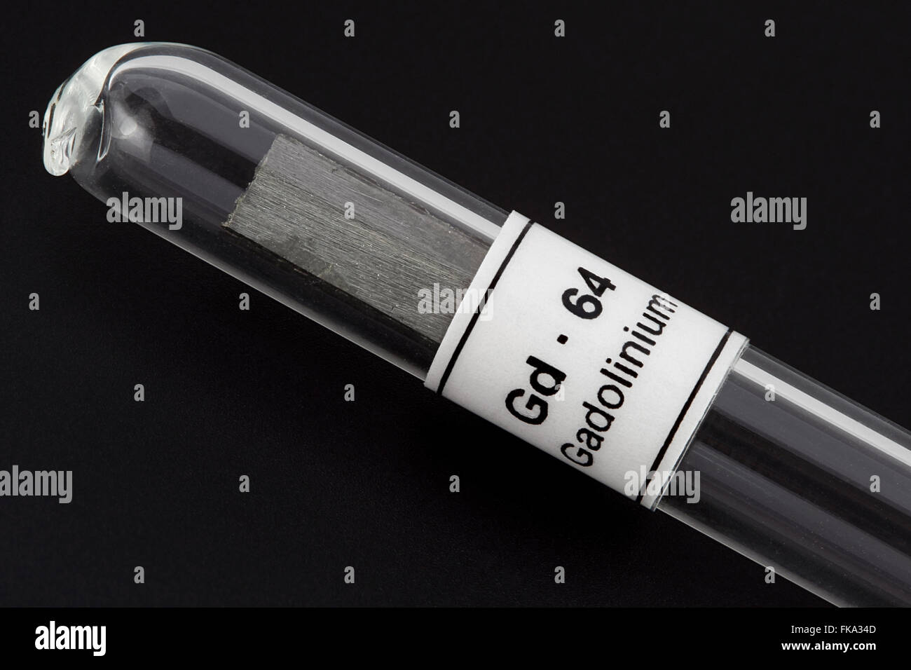 Gadolinium (Gd - 64), Chemical Element, Rare Earth Metal - Stock Image