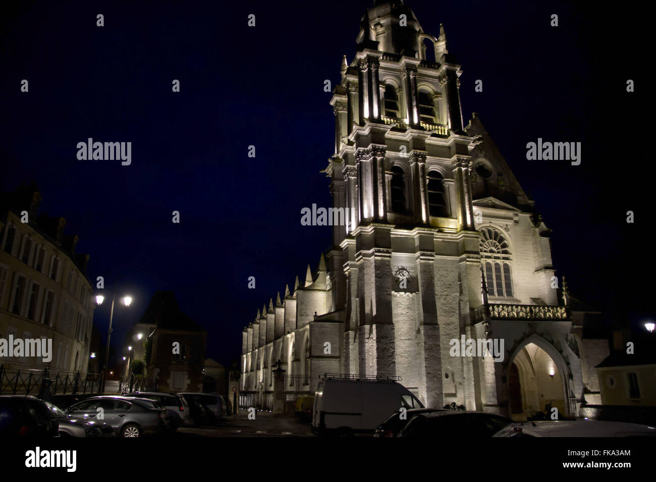 Cathedral Church of Saint Louis City of Blois - Loire Valley - Stock Image