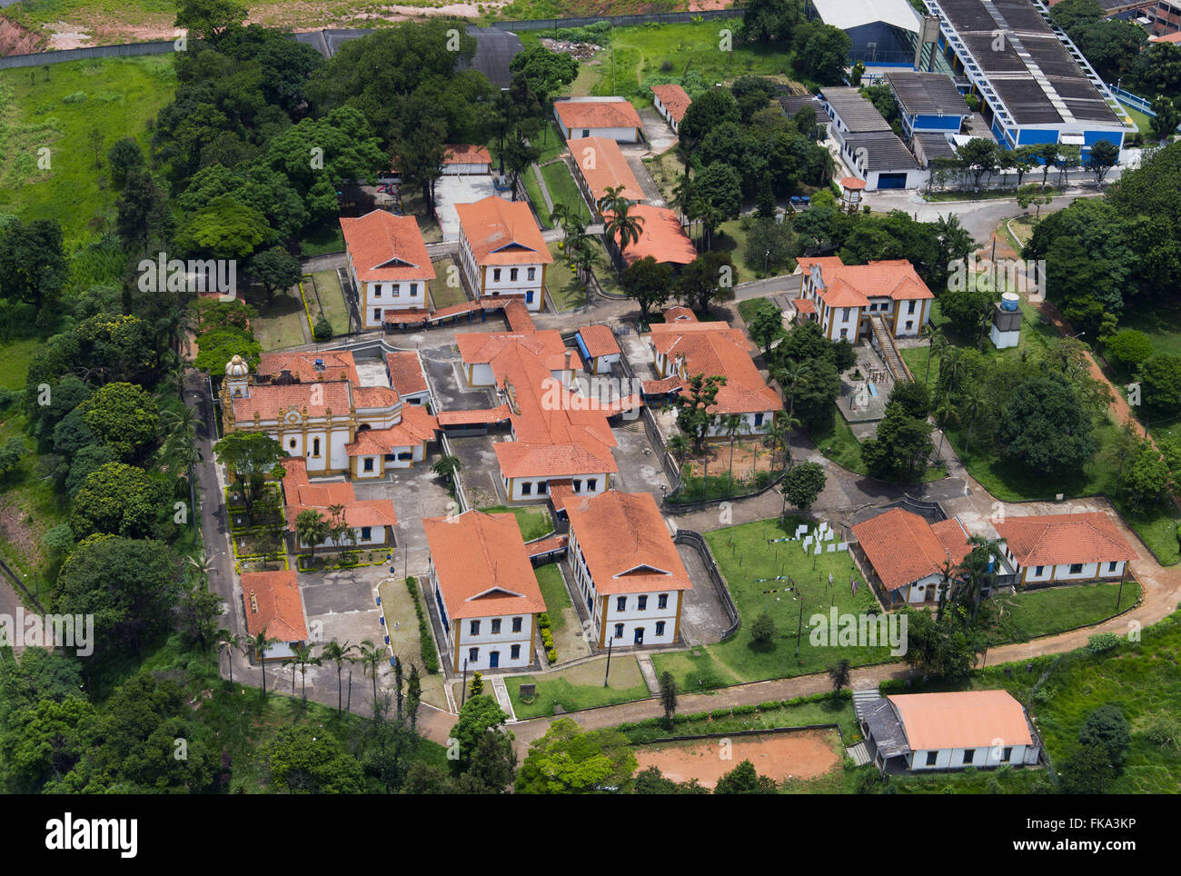 Aerial view of St. Therese Association - Stock Image