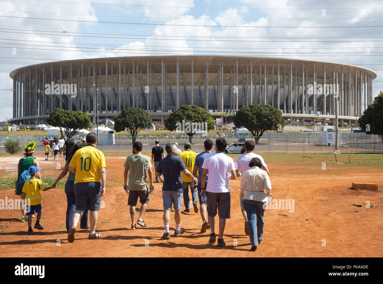 Fans arriving for the opening match of the Confederations Cup - Stock Image