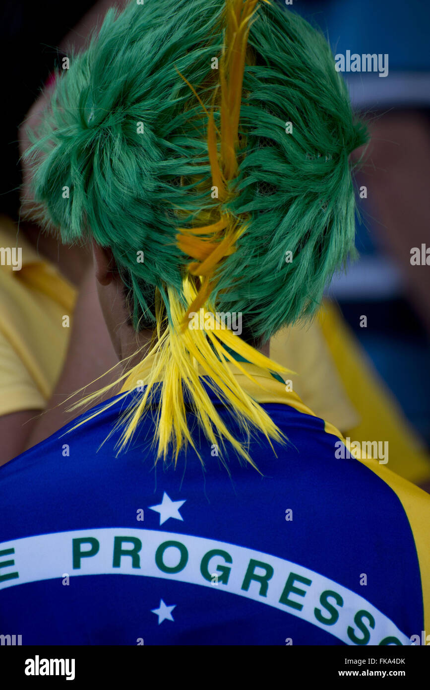 Fans coming to the opening match of the Confederations Cup in Brasilia - Stock Image