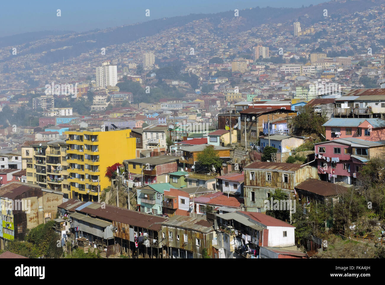 Cerro Santo Domingo and Cerro Cordillera - Stock Image