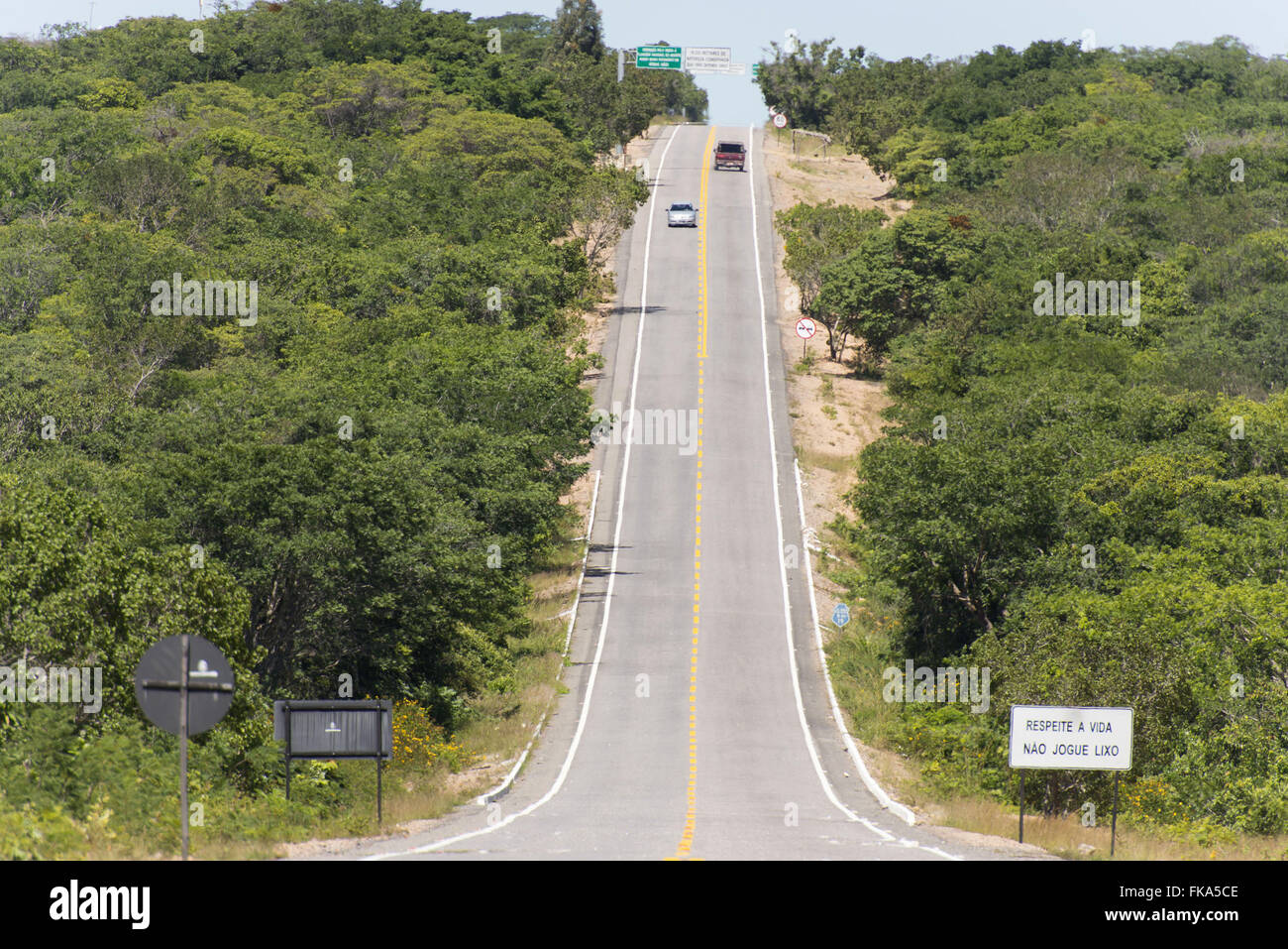 EC-060 state highway in the Araripe Stock Photo
