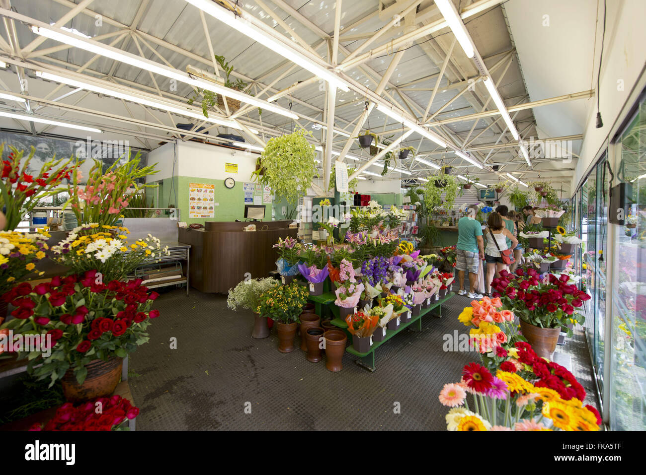Floristry the Arouche Square - Stock Image