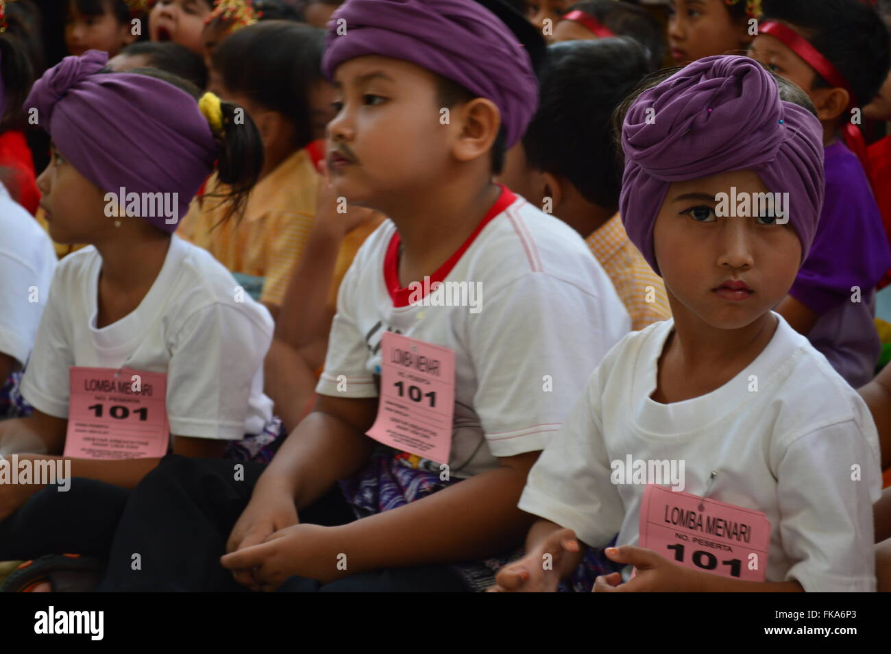 dancing and singing kids contest in jakarta indonesia stock photo