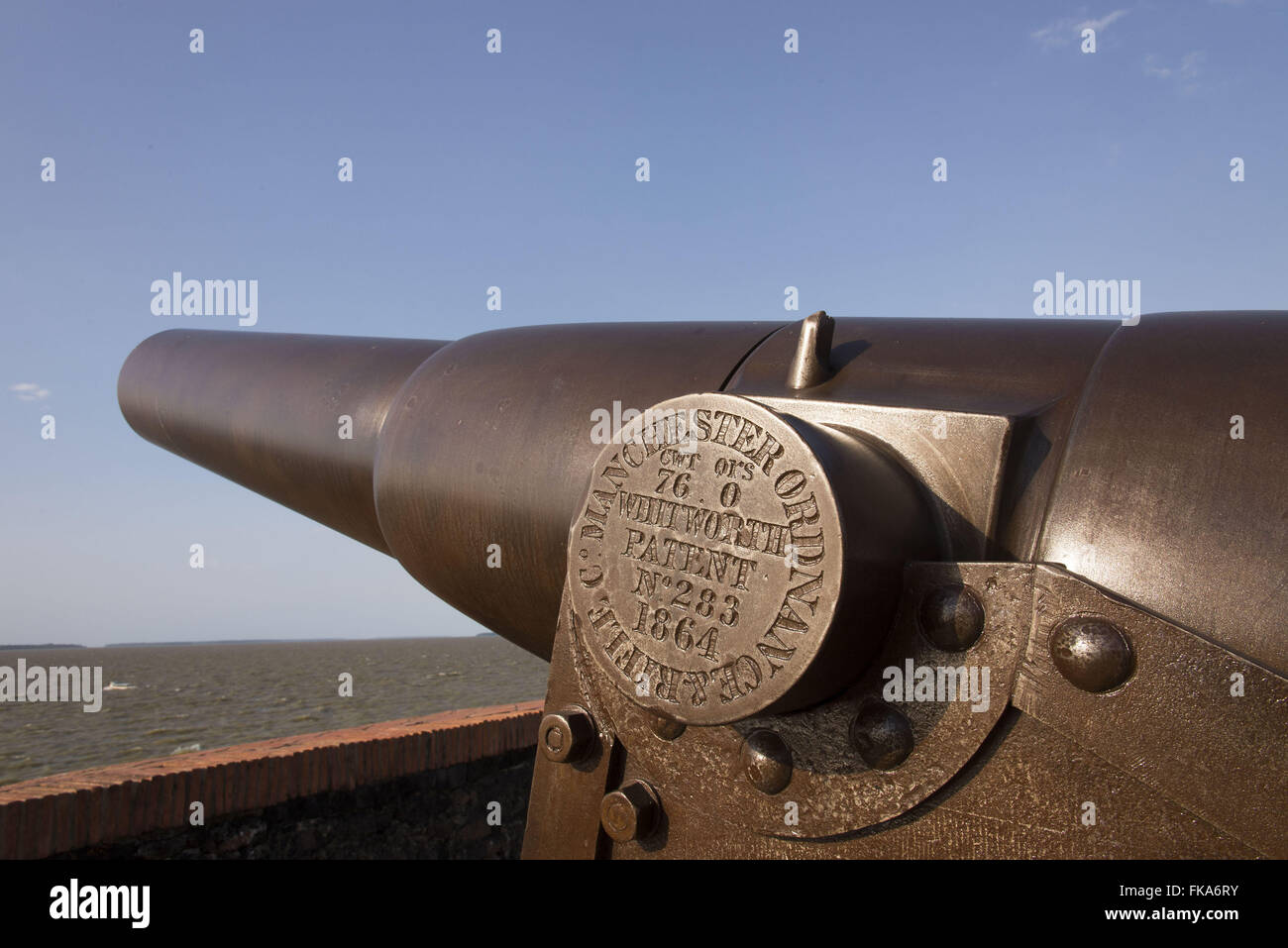 Presepio of Fort cannon also called Forte Castle situated at the mouth of River Range - Stock Image