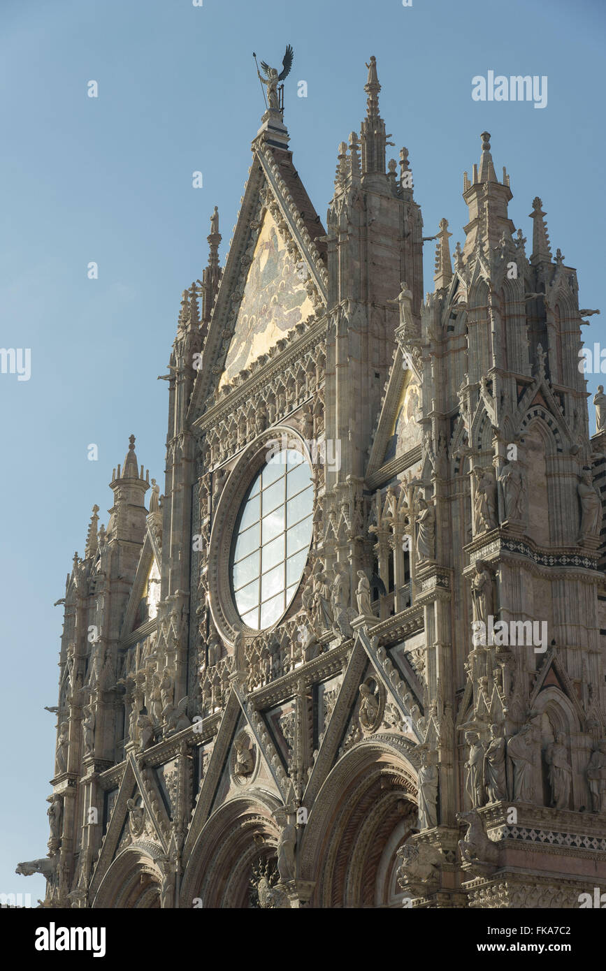 Duomo de Siena em estilo românico-gótico - construção do século XIII - Stock Image