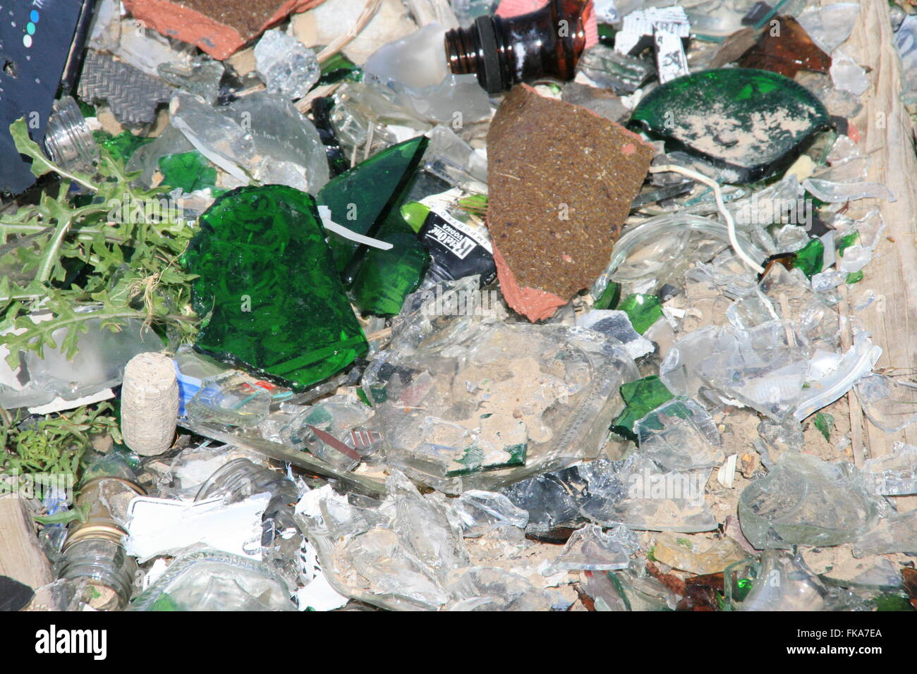 Sharp Pile - Stock Image