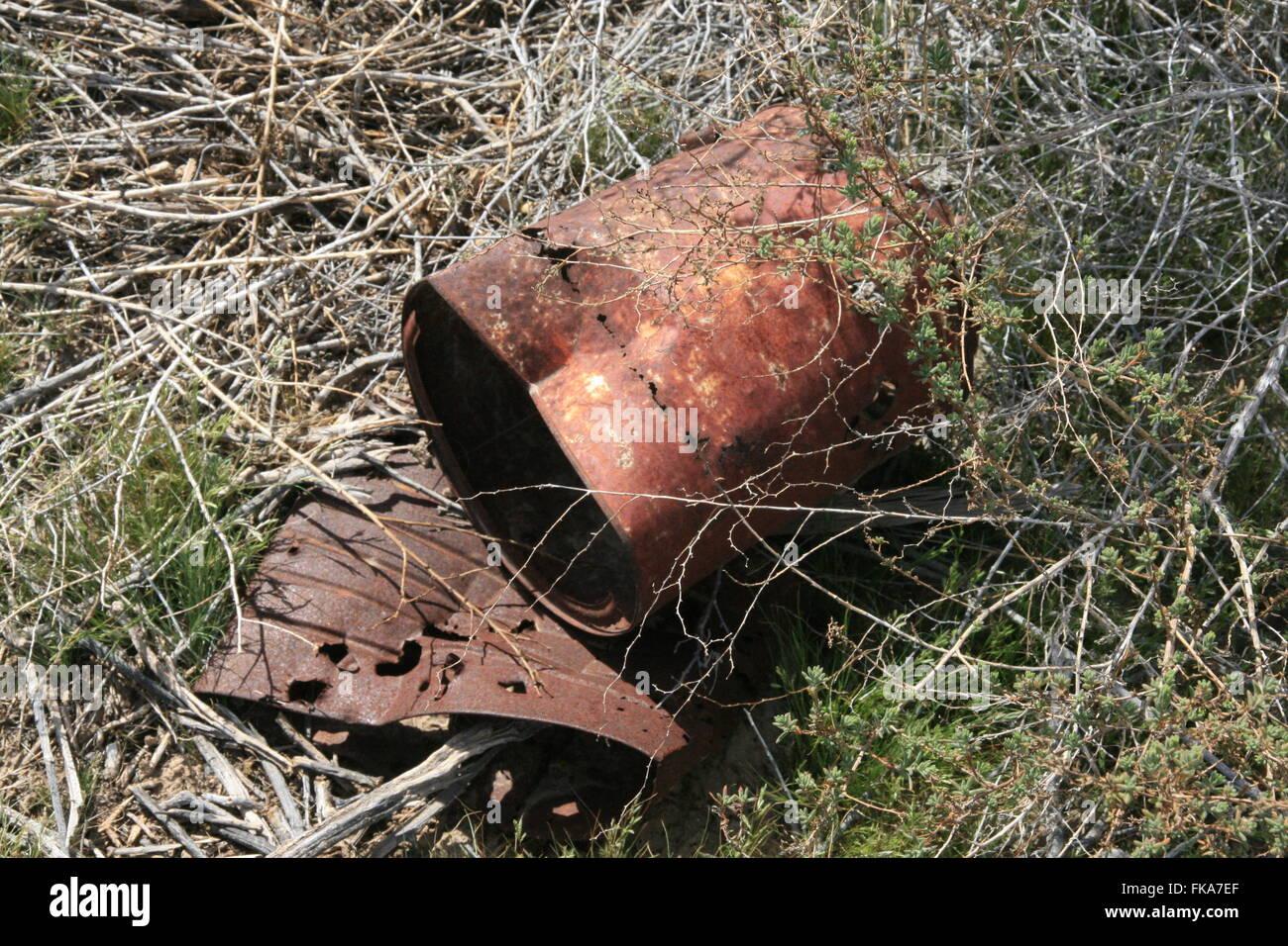 Tin Can Desert 'Trash' - Stock Image