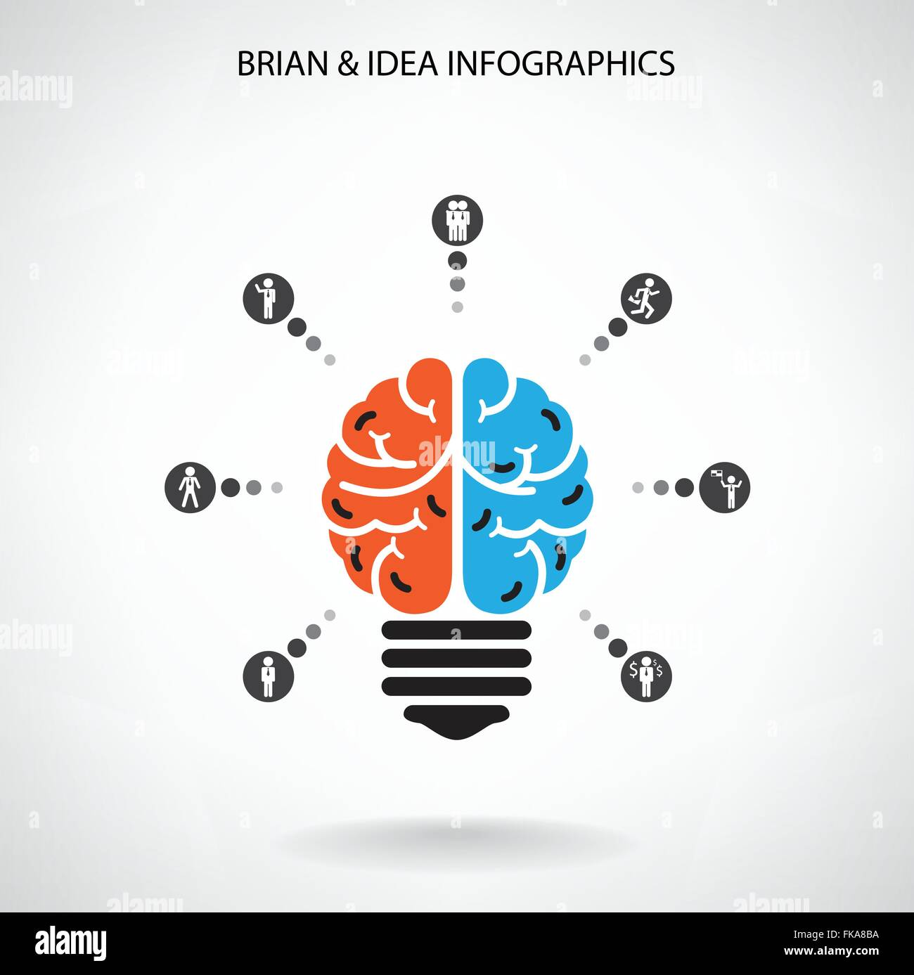 creative brain idea concept background design for poster flyer cover