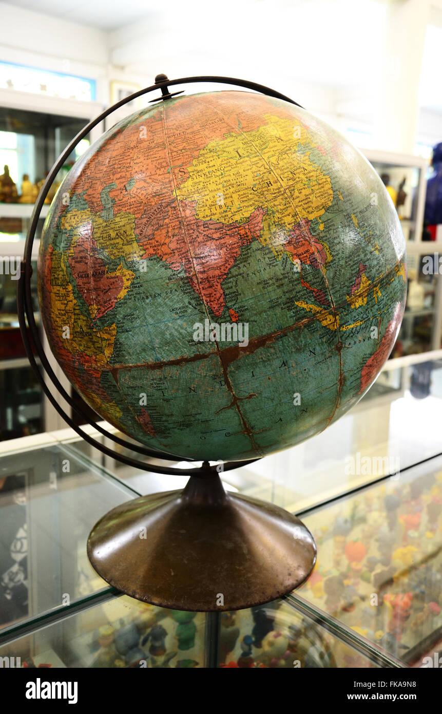 Simulation globe map world stock photos simulation globe map world simulation globe with a map of the world stock image gumiabroncs Images