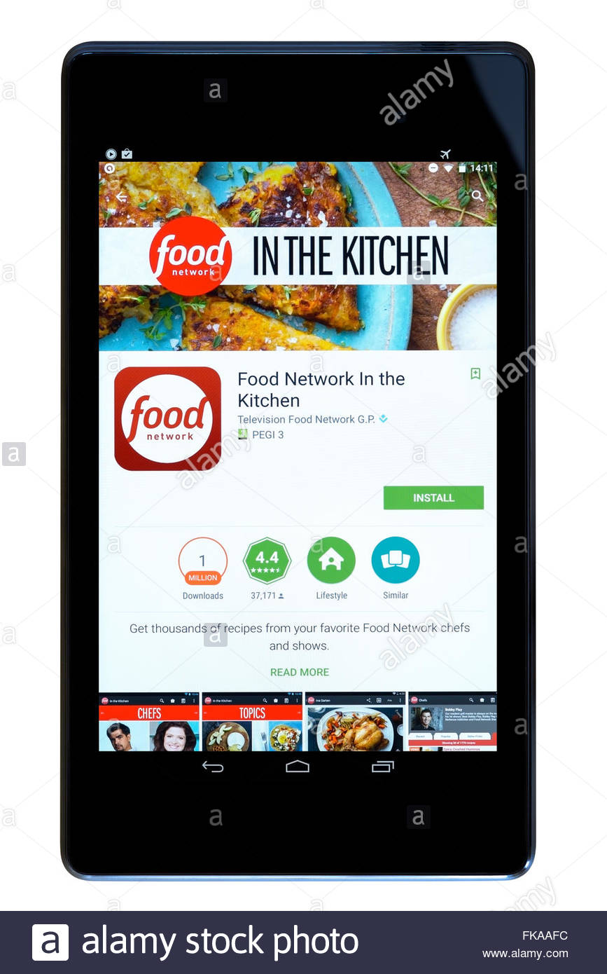 Food recipes app In The Kitchen, app on an android tablet PC, Dorset ...