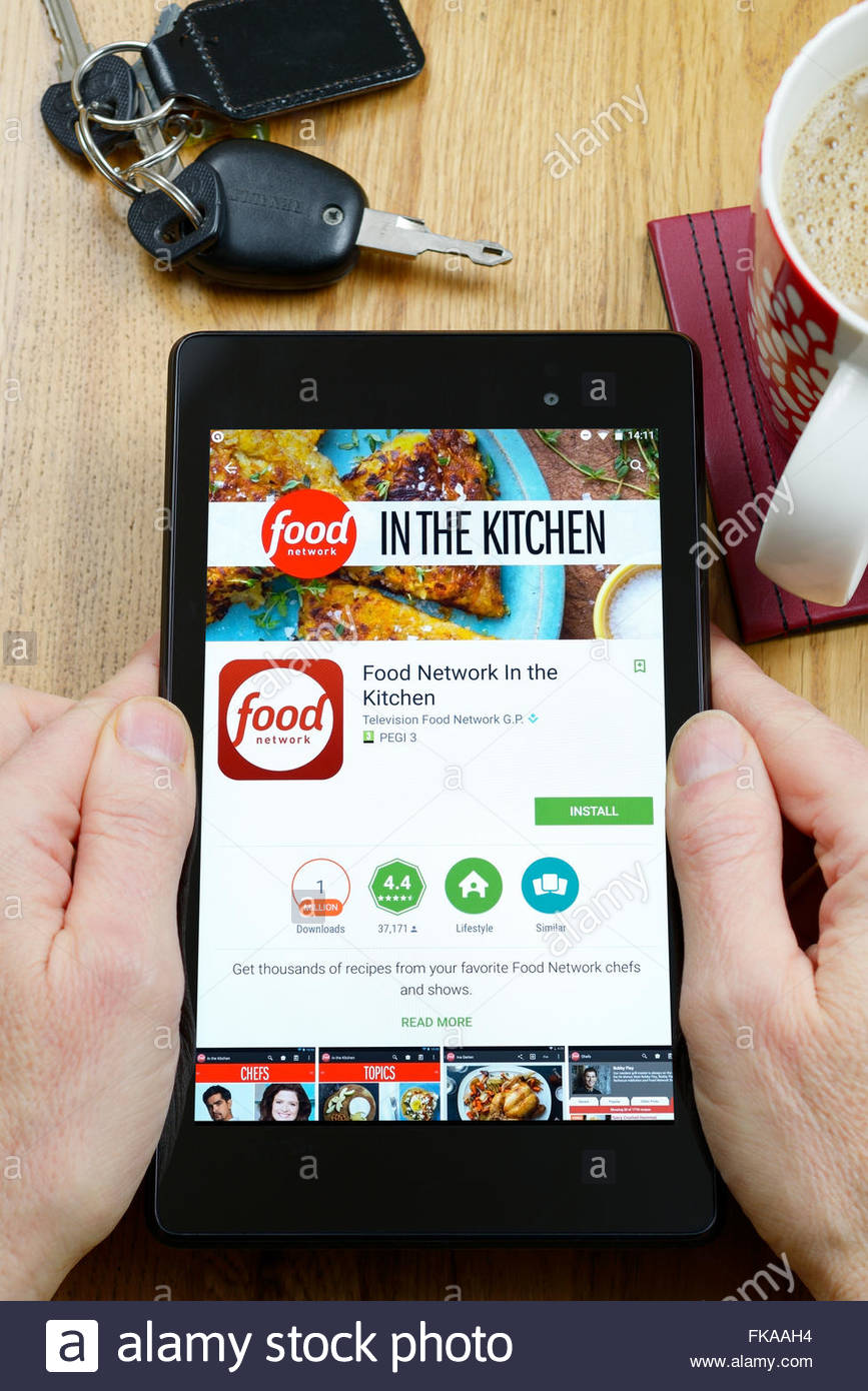 Food recipes app in the kitchen app on an android tablet pc dorset food recipes app in the kitchen app on an android tablet pc dorset england uk forumfinder Image collections