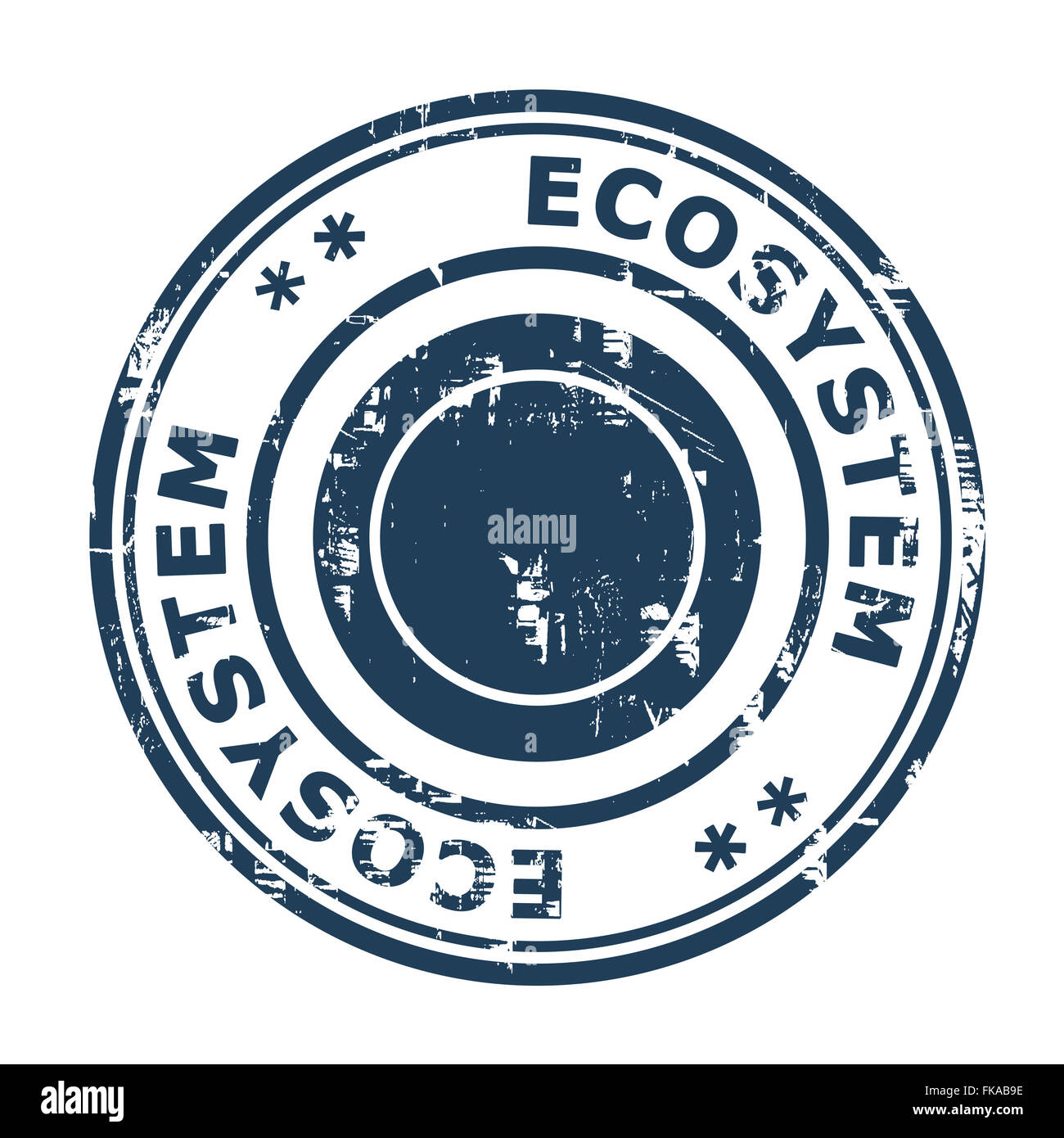 Ecosystem business concept rubber stamp isolated on a white background. - Stock Image