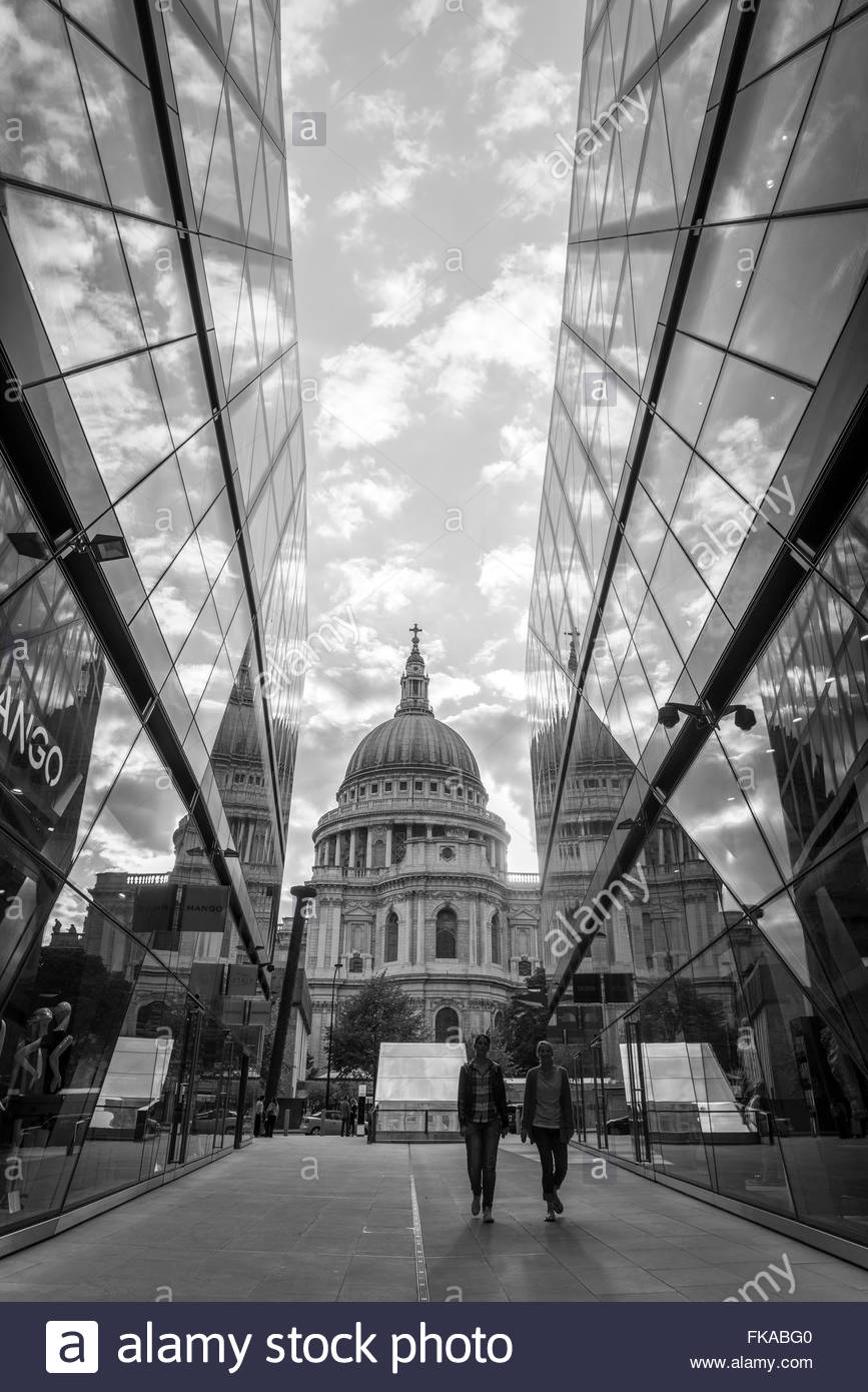 Black and White of St Paul Cathedral - Stock Image