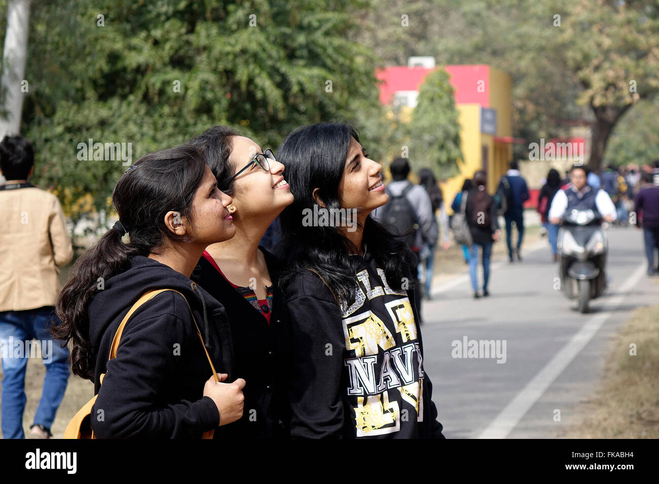 College Girls India Stock Photos & College Girls India Stock