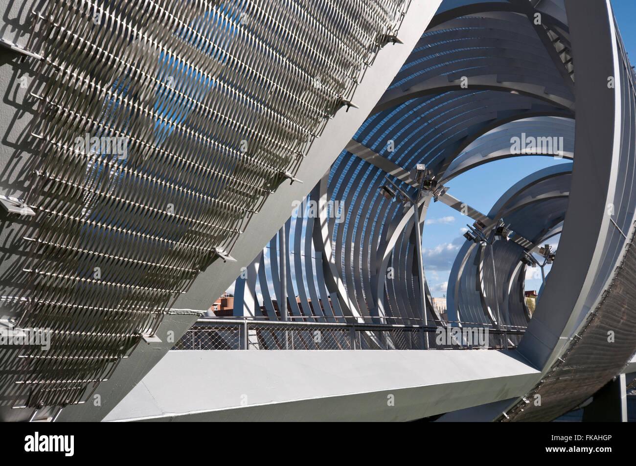 Arganzuela Bridge in Madrid Rio Park, Madrid, Spain Stock Photo