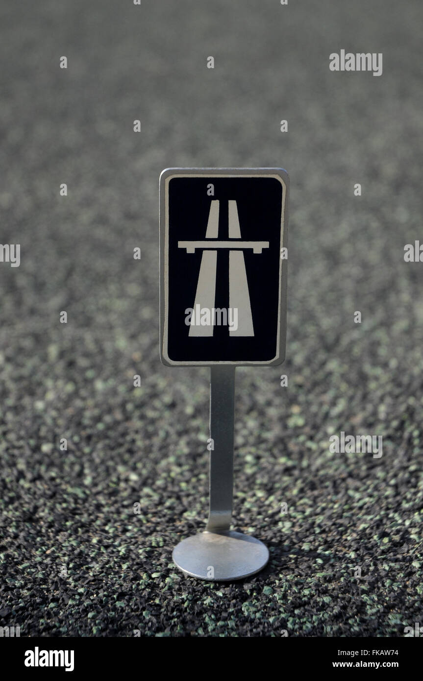 highway, symbol, indication, sign, traffic, road, highway, final motorway - Stock Image