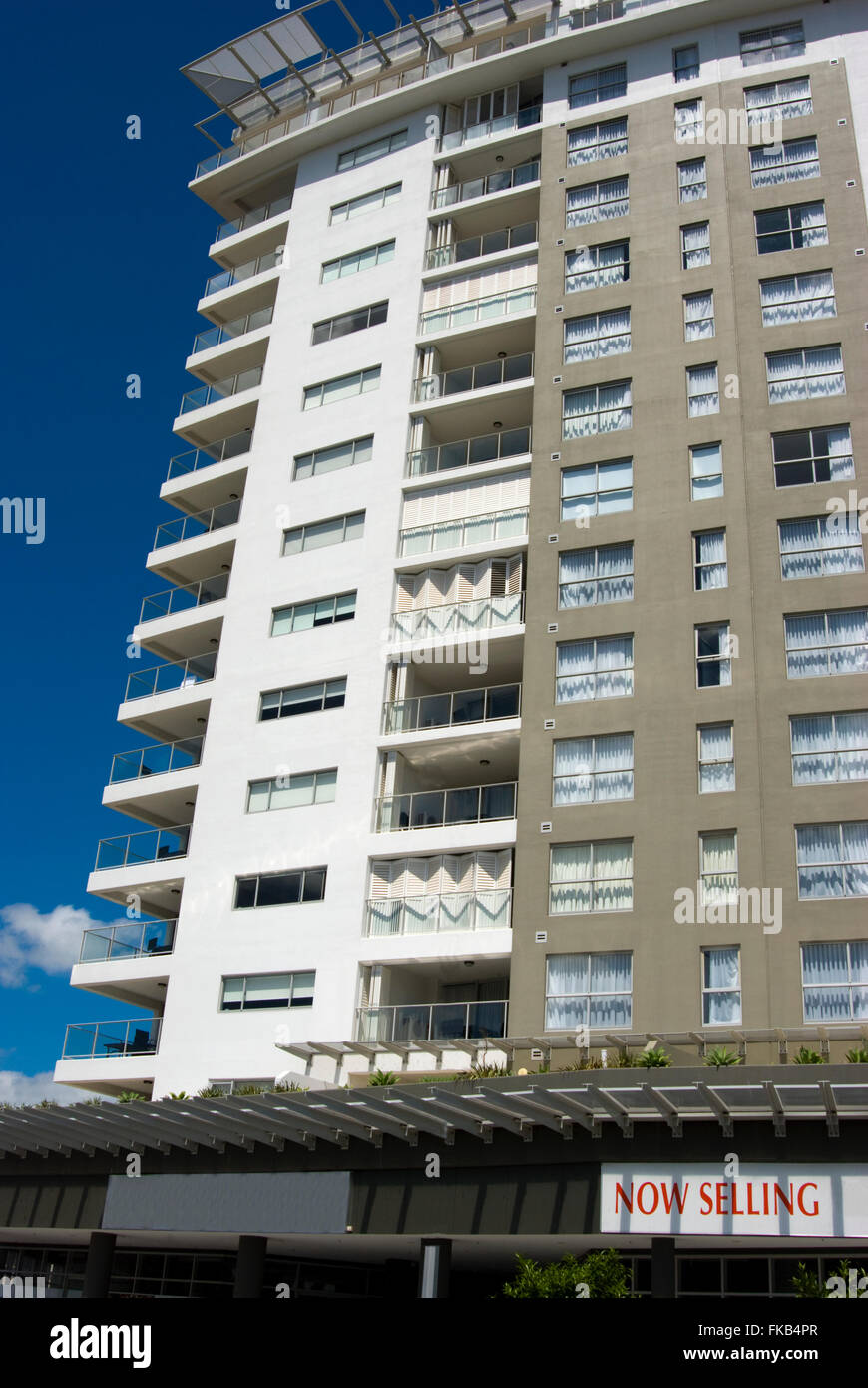 An image of units for sale in suburban Brisbane Australia. - Stock Image