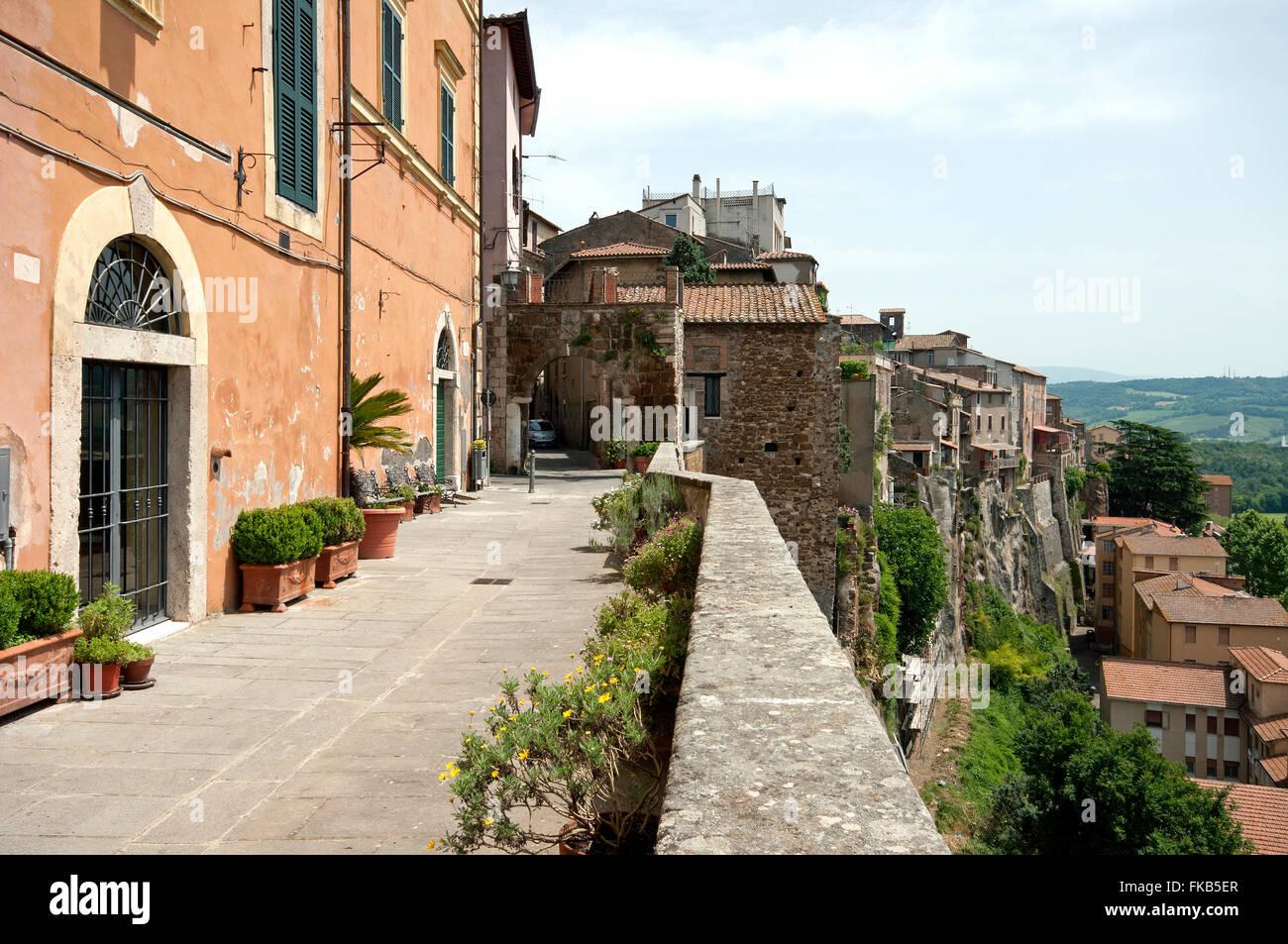 Orte, viewpoint near Porta del Vascellaro, Lazio, Italy - Stock Image