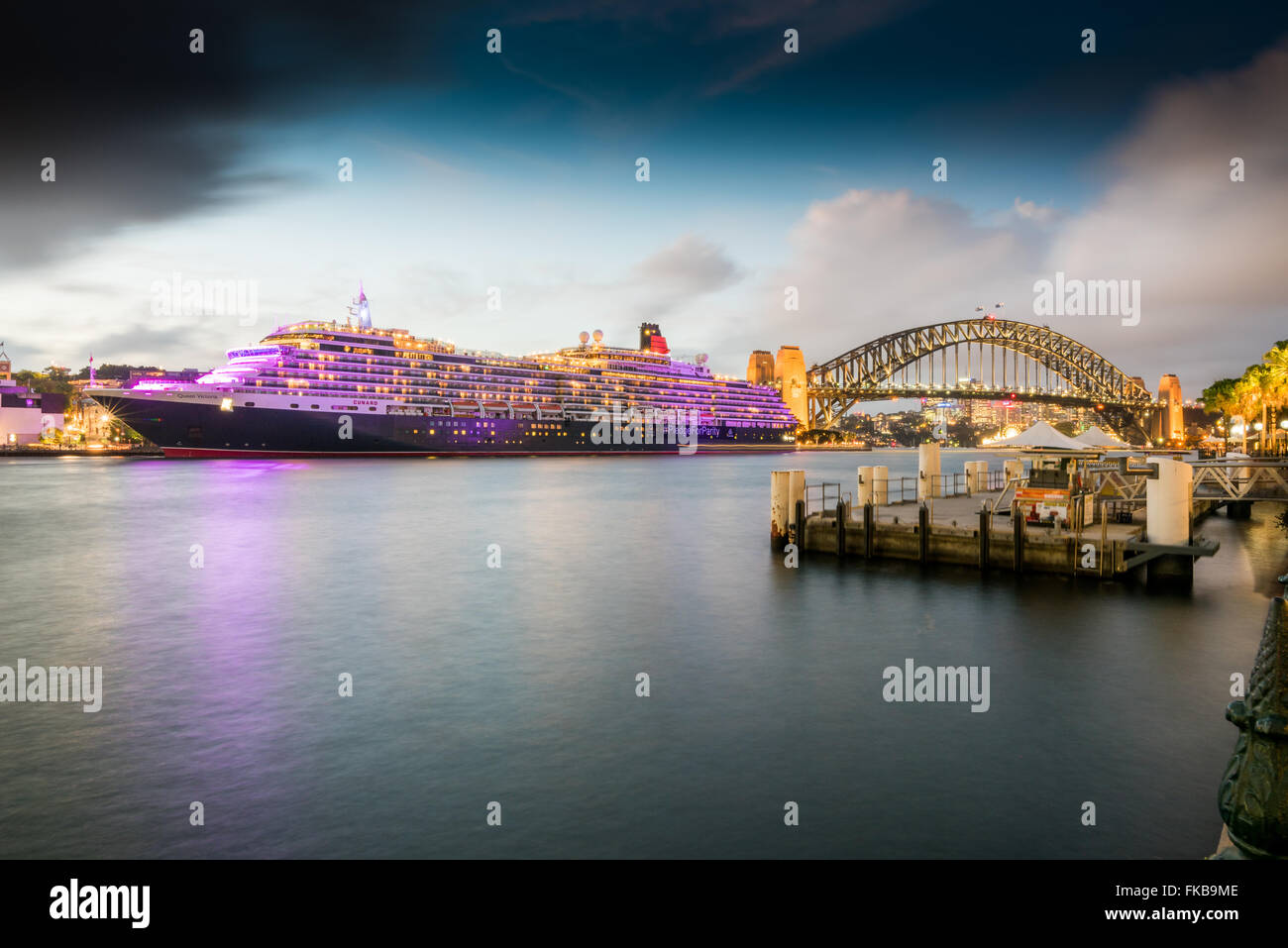 Pledge for Parity - Cunard marking International Women's Day in Sydney - Stock Image