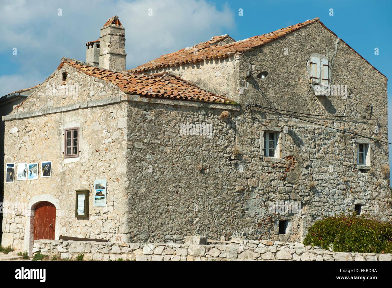 Kroatien, Insel Cres, Lubenice, Dorfhaus - Stock Image