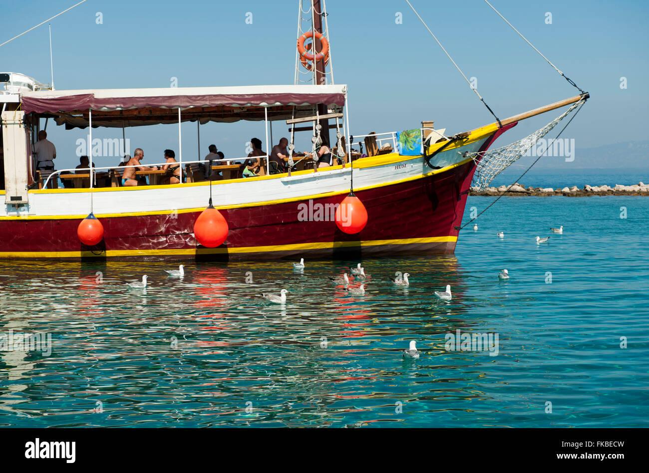 Kroatien, Insel Losinj, Veli Losinj, Bootsausflug Stock Photo