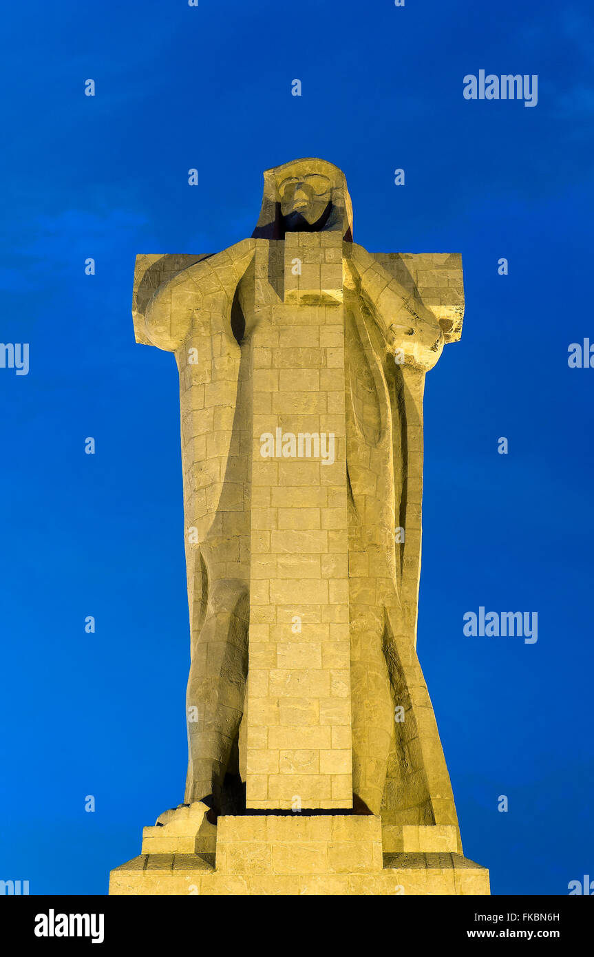Monument to the Discoverer Faith, Huelva, Region of Andalusia, Spain, Europe - Stock Image