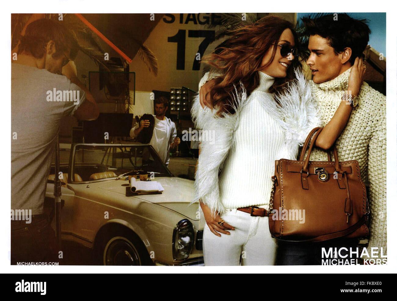 2010s USA Michael Kors Magazine Advert - Stock Image