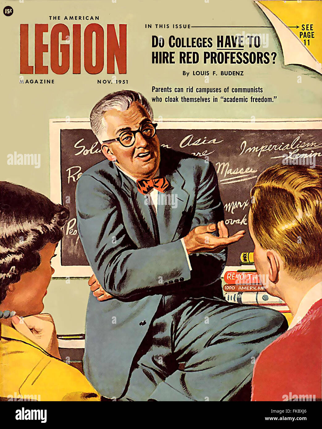 1950s USA The American Legion Magazine Magazine Cover - Stock Image