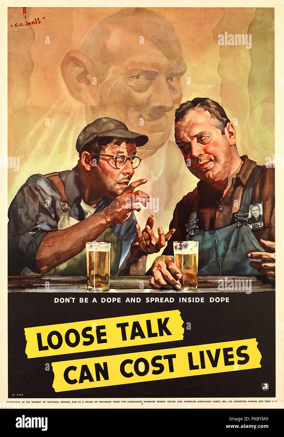 1940s USA British & American Ambulance Corps Magazine Advert - Stock Image