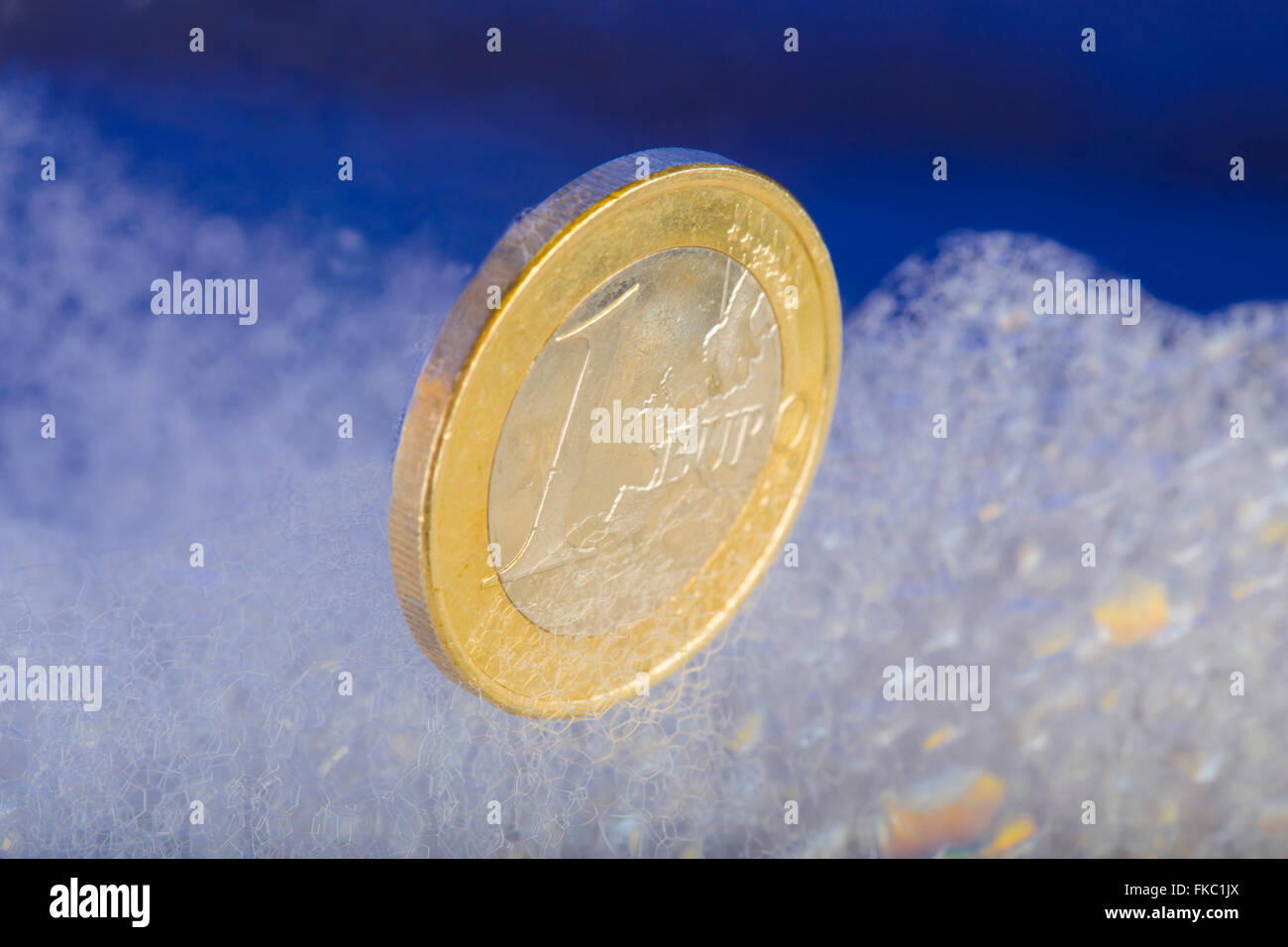 economic recovery of the euro currency and refloating the economy - Stock Image