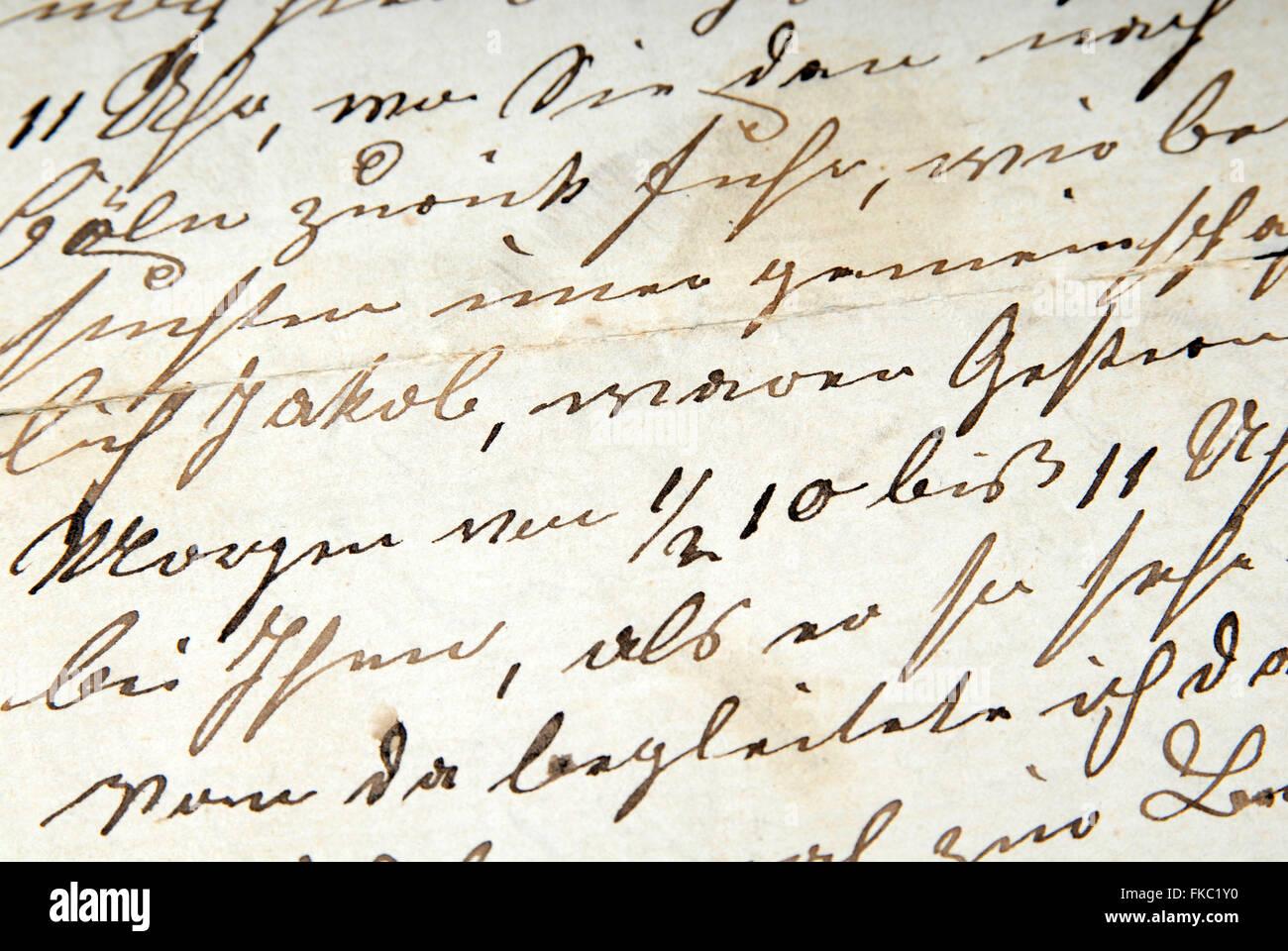 Historic correspondence - Stock Image