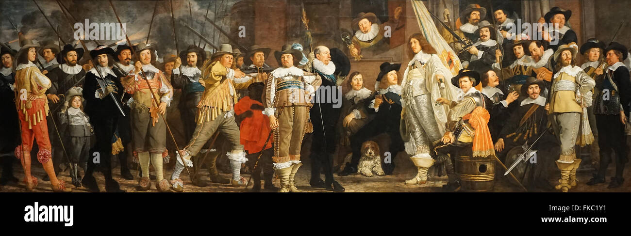 Military Company of district VIII and captain Roelof Bicker 1643 by Bartholomeus van der Helst 1613-1670 - Stock Image