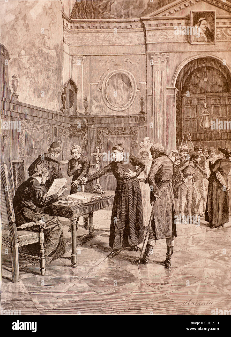 Italian Risorgimento The Oath of Sanfedists 1829