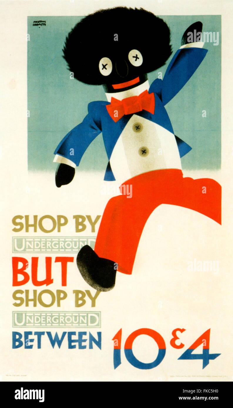 1920s UK London Underground Poster Stock Photo