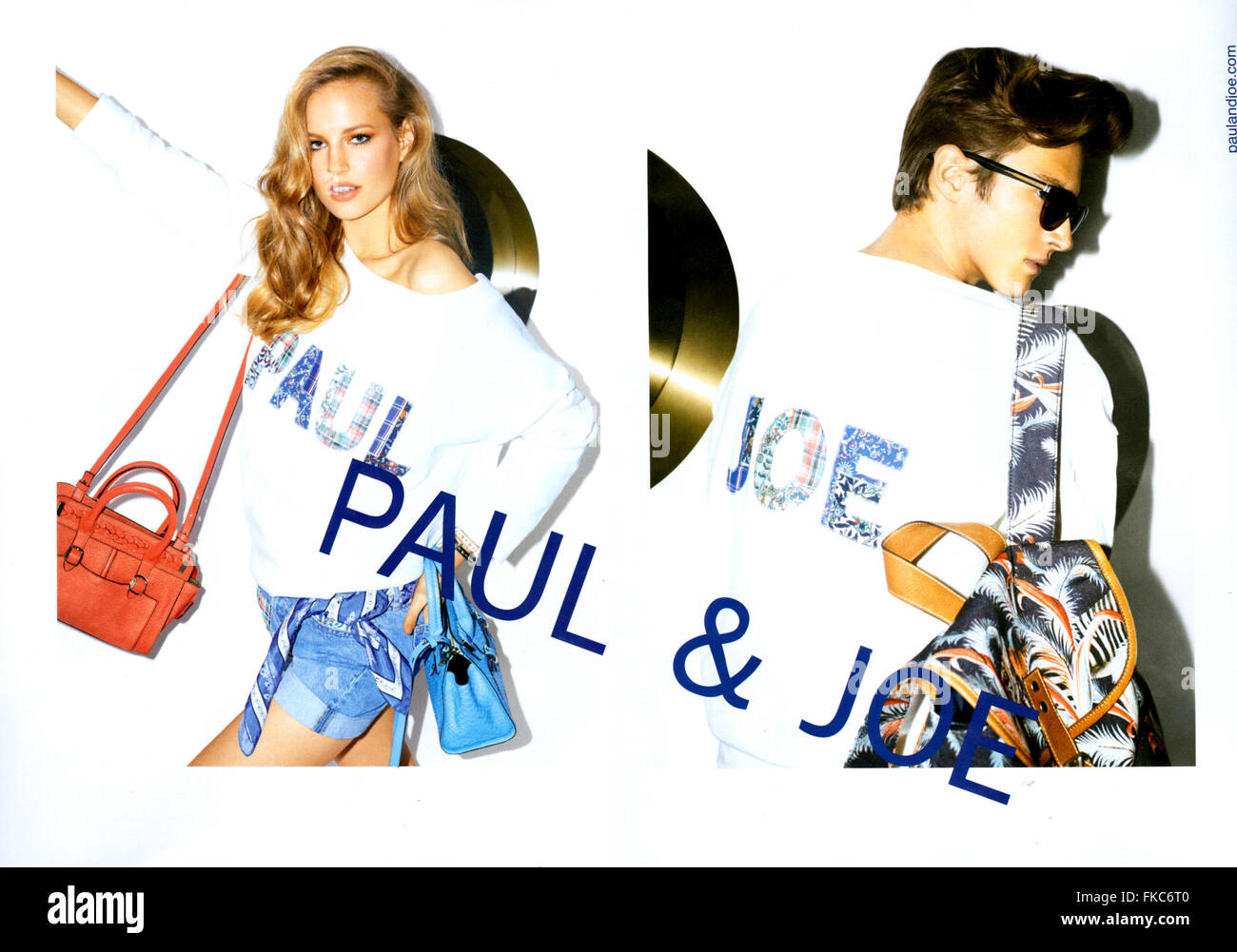 2010s UK Paul & Joe Magazine Advert - Stock Image