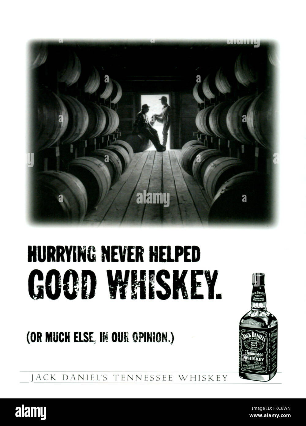 1990s USA Jack Daniel's Magazine Advert Stock Photo