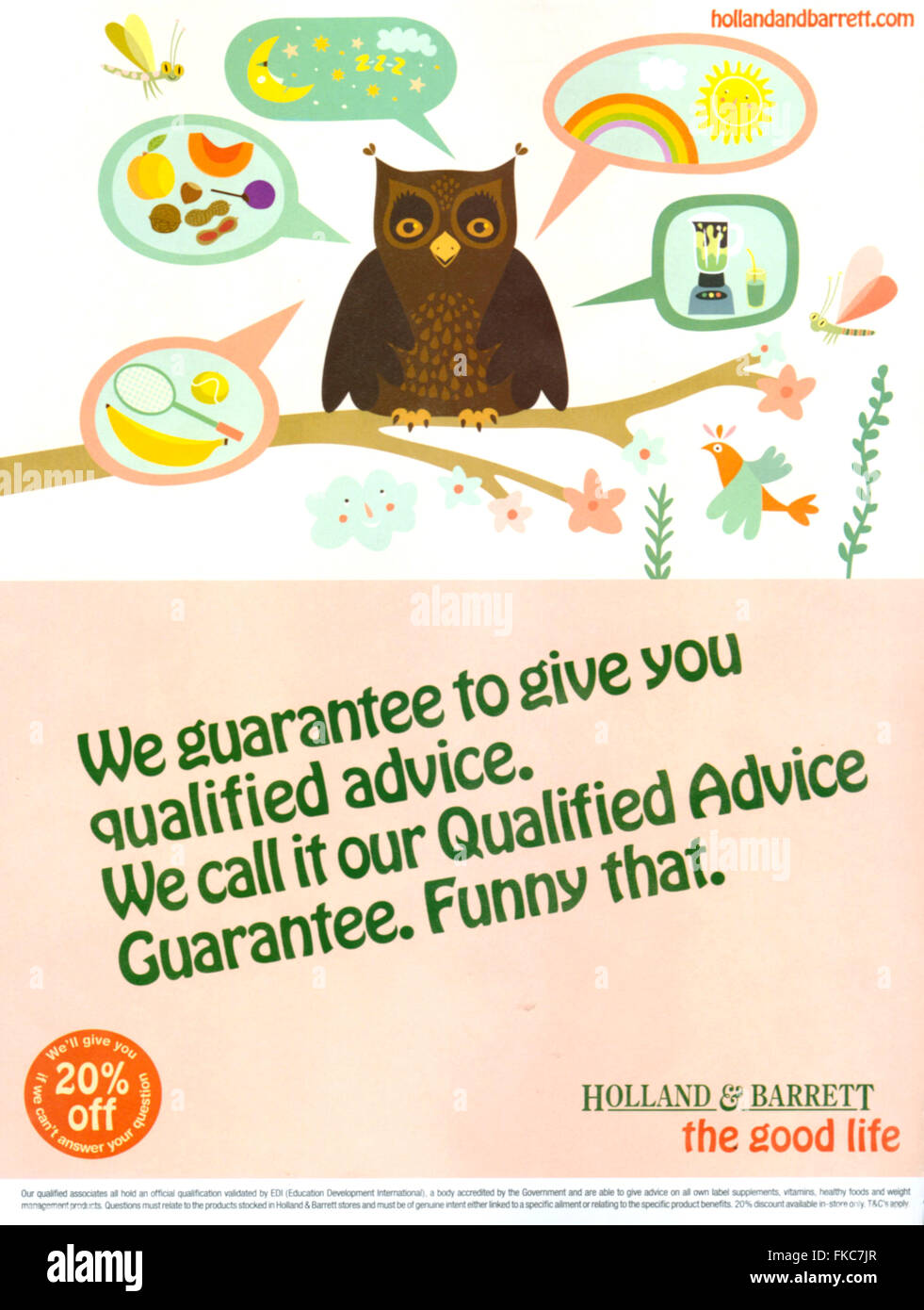 2010s UK Holland and Barrett Magazine Advert - Stock Image