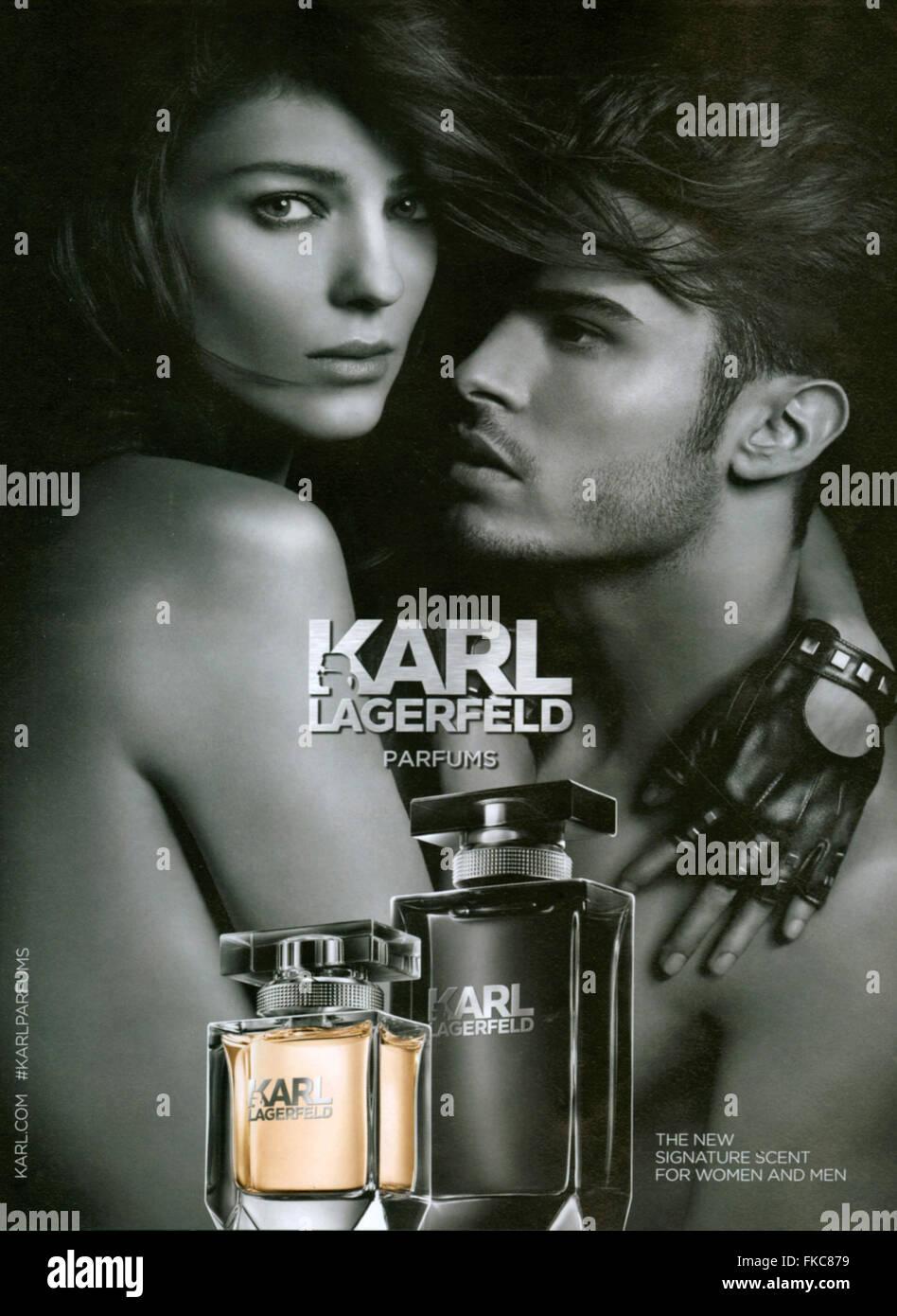 2010s UK Karl Lagerfeld Magazine Advert - Stock Image