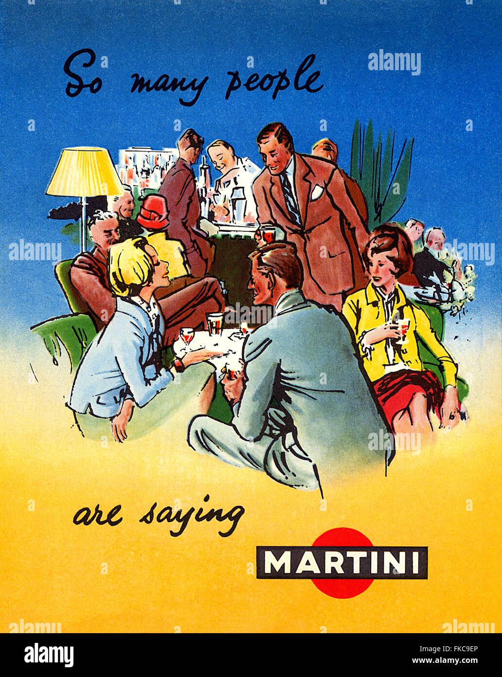 USA Martini Magazine Advert - Stock Image