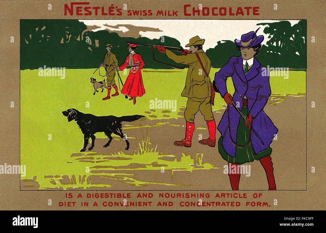 UK Nestle Magazine Advert - Stock Image