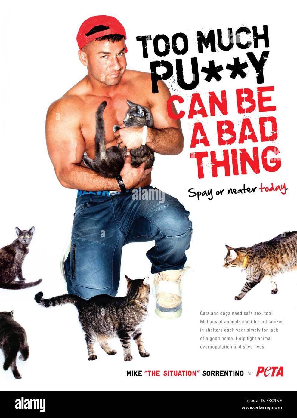 2010s USA PETA Magazine Advert Stock Photo
