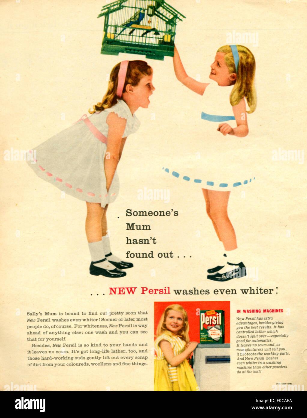 UK Persil Magazine Advert - Stock Image