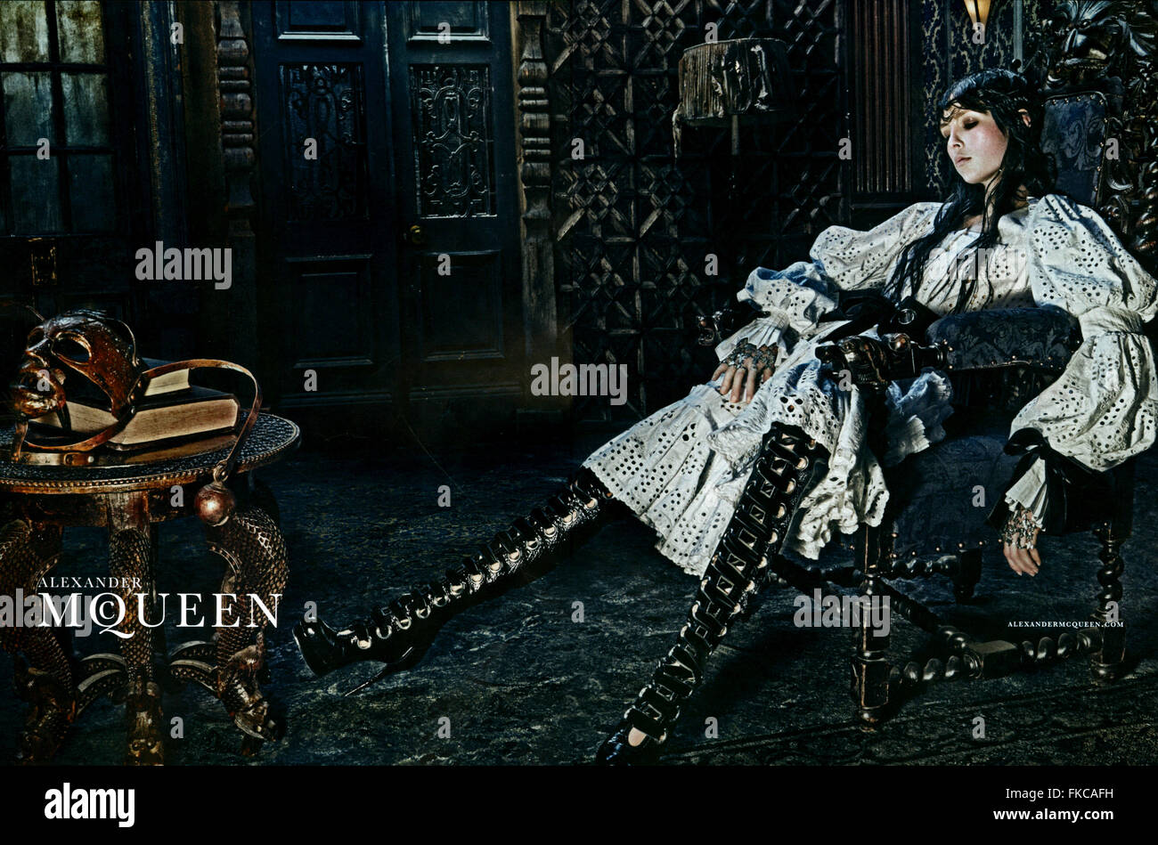 2010s UK Alexander McQueen Magazine Advert - Stock Image
