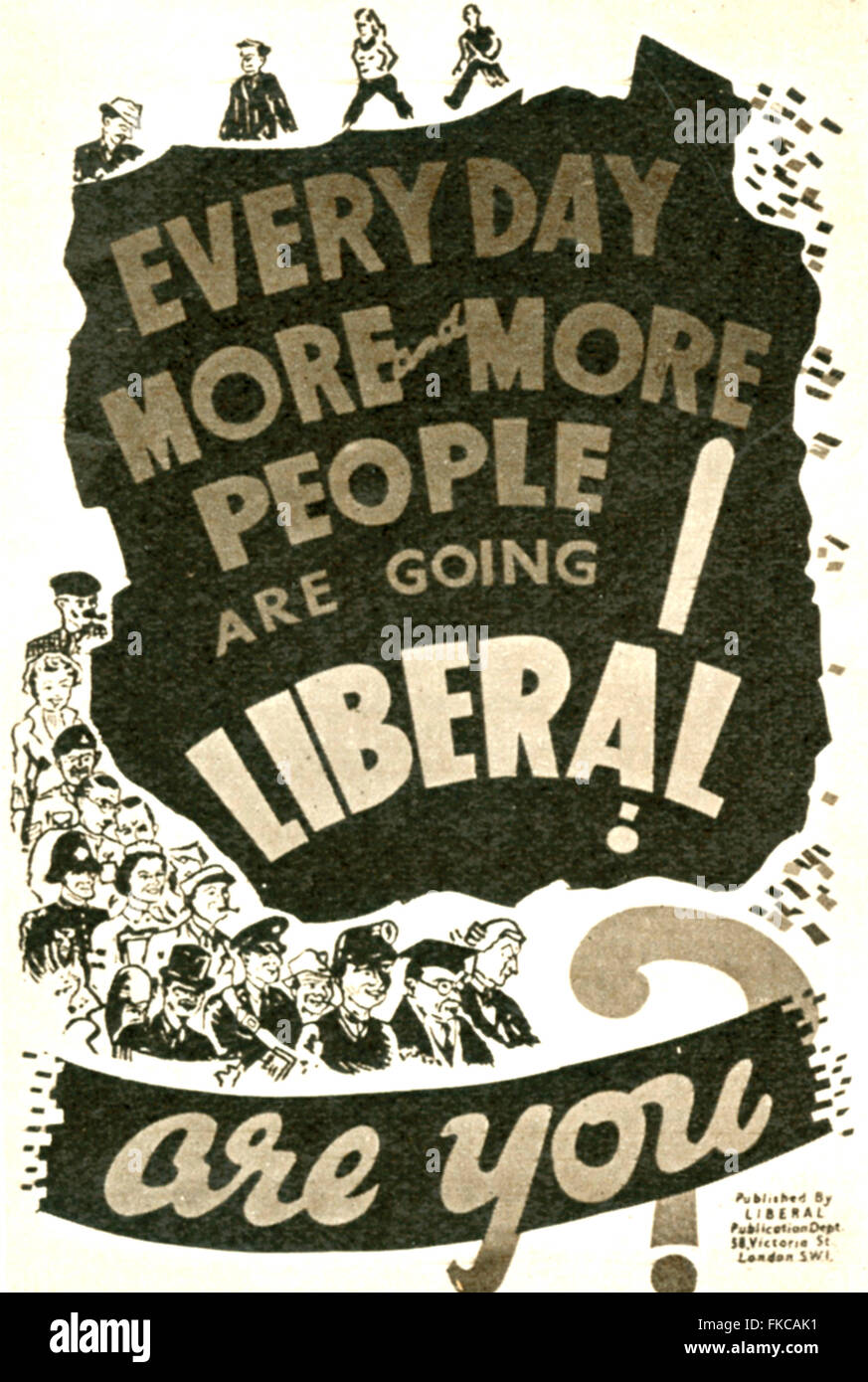 1950s UK The Liberal Democrats Poster - Stock Image