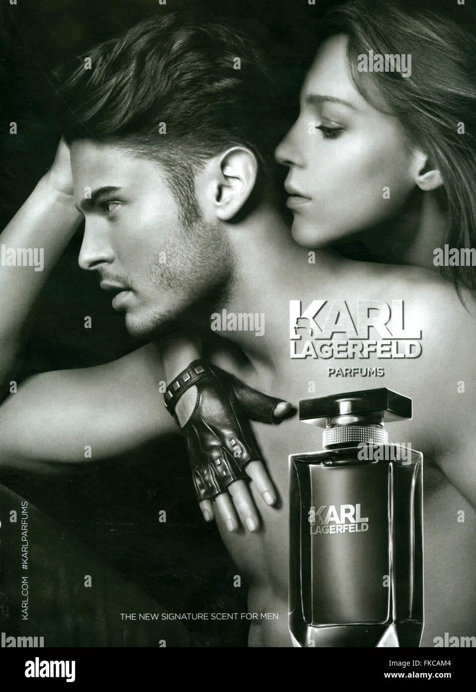 2000s UK Karl Lagerfeld Magazine Advert - Stock Image